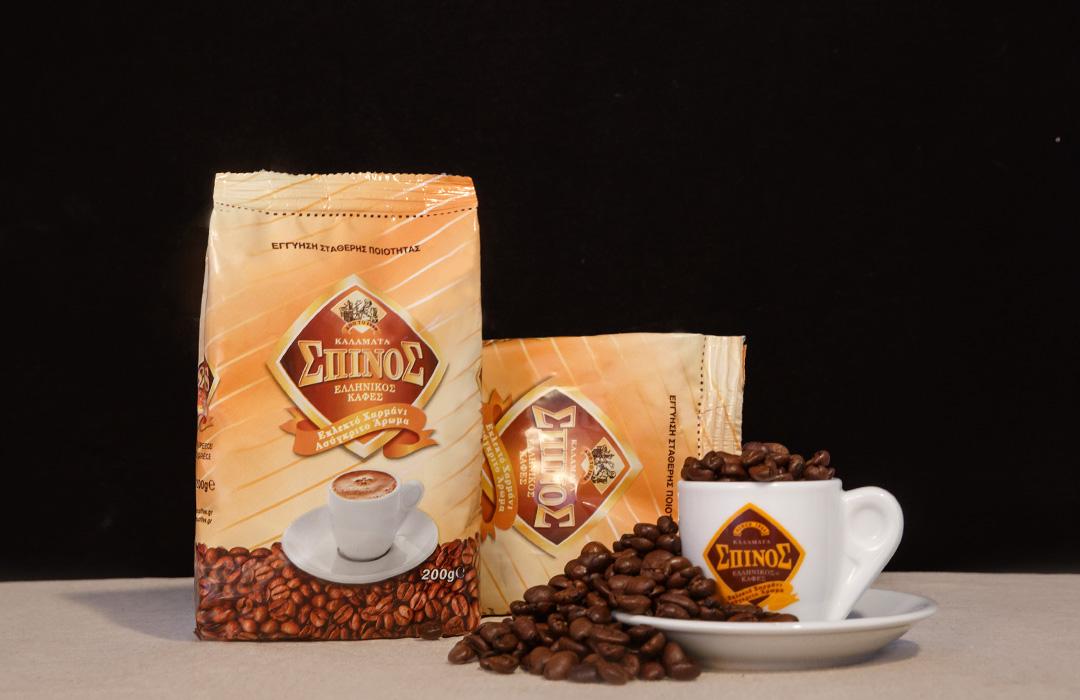 spinos coffee greek decaffeine